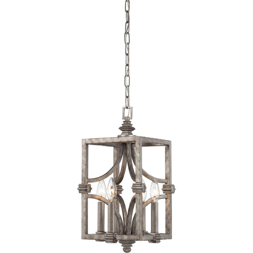 Savoy House Lighting Structure 4 Light 9 inch Aged Steel Lantern