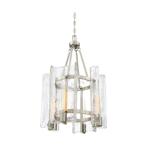 Savoy House Lighting Handel 4 Light 17 inch Satin Nickel Lantern