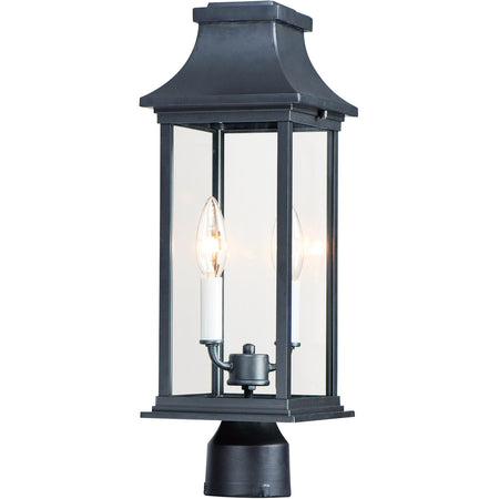Z-Lite Talbot 3 Light 19 inch Black Outdoor Post Mount Fixture
