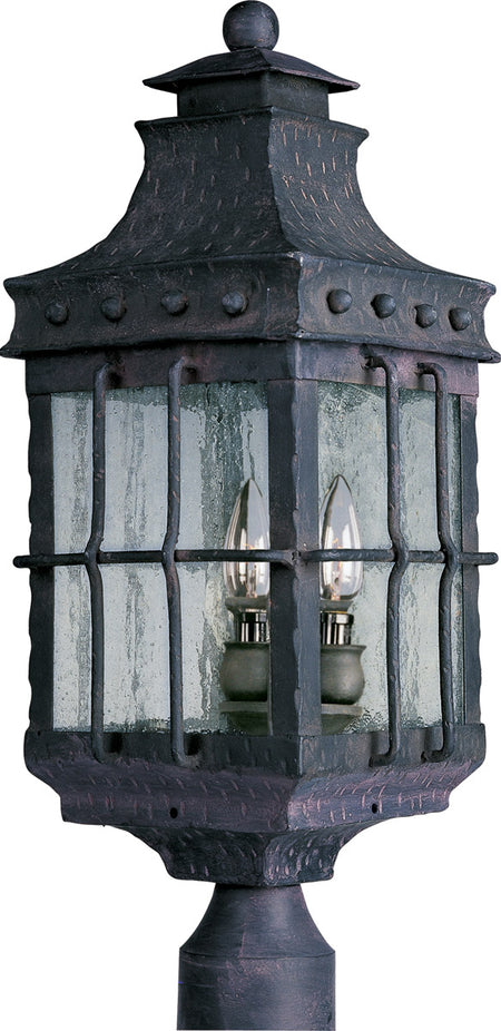 Trans Globe Lighting Canby 3 inch Antique Rust Outdoor Post Base Mount