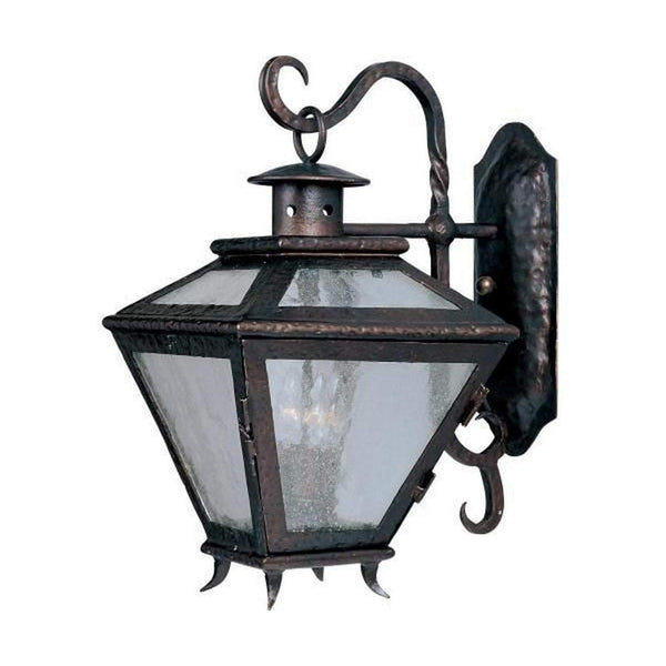 Maxim Lighting Cabo 3 Light 21 inch Country Forge Outdoor Wall Lantern