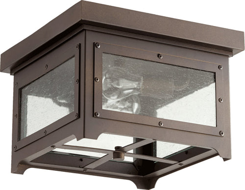 Quorum International Riverdale 2 Light 13 inch Oiled Bronze Outdoor Ceiling
