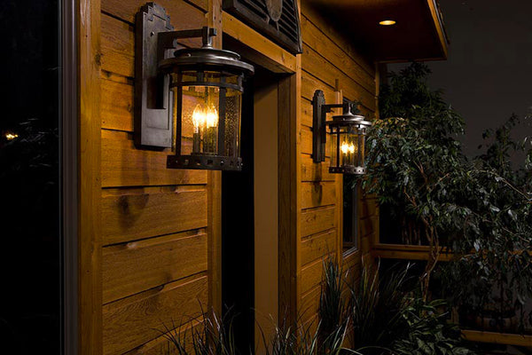 Maxim Lighting Santa Barbara VX 3 Light 16 inch Sienna Outdoor Wall Mount