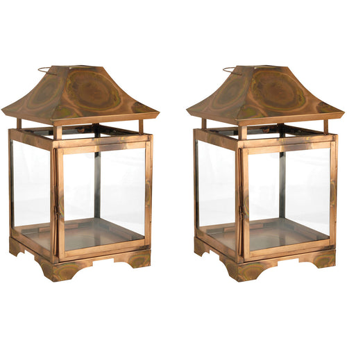 Pomeroy 401305/S2 Bali 13 X 8 inch Burned Copper Outdoor Lanterns Small
