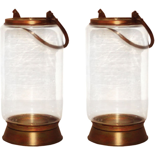 Pomeroy 401329/S2 Taos 10 X 6 inch Burned Copper Outdoor Lanterns Small