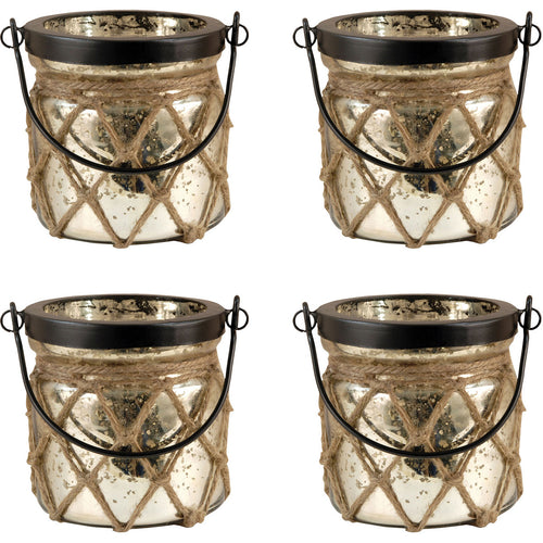 Pomeroy 401558/S4 Candice 5 inch Antique Wheat and Rustic Lantern