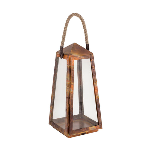 Pomeroy 401732 Levingston 7 inch Burned Copper Outdoor Lantern Small