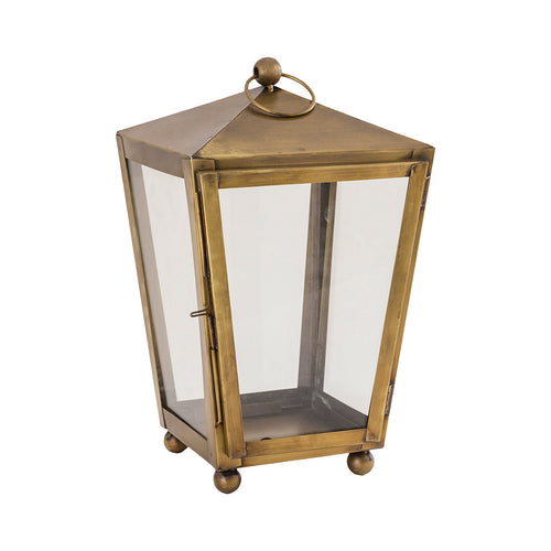 Pomeroy Capitol 8 inch Antique Brass Outdoor Lantern Small