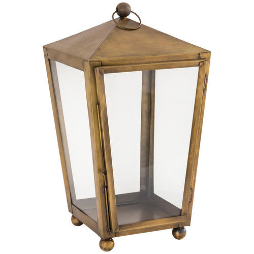 Pomeroy 401763 Capitol 10 inch Antique Brass Outdoor Lantern Large