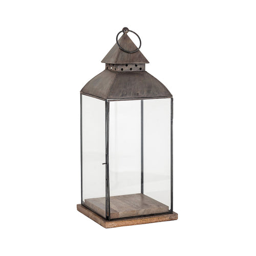 Pomeroy 404467 Rivera 8 inch Antique Zinc Outdoor Lantern