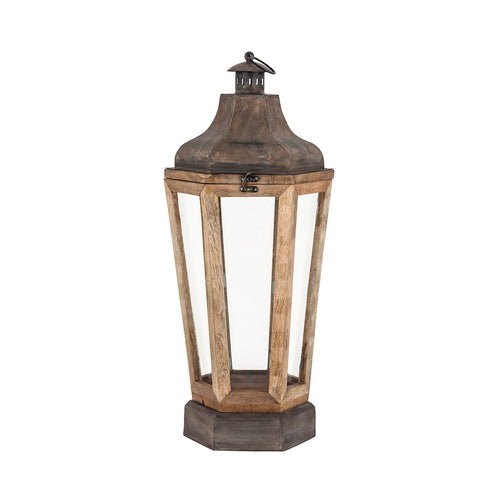 Pomeroy 404474 Townsend 11 inch Antique Zinc and Clear Lantern