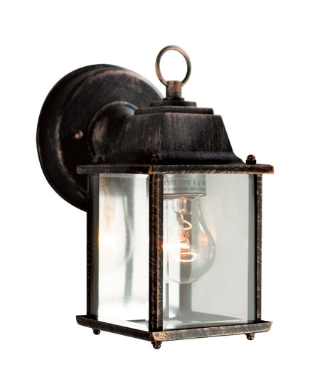 George Kovacs P1237-566-L Wedge LED 15 inch Silver Dust Outdoor Pocket Lantern in Etched White