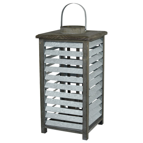 Pomeroy 404559 Avery Hill 10 inch Galvanized and Natural Lantern