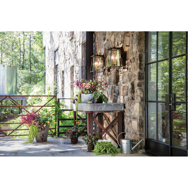 Hinkley Lighting 2105KZ Walker 3 Light 18 inch Buckeye Bronze Outdoor Wall Mount in Candelabra Clear Glass