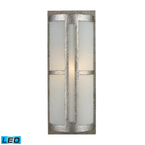 Decovio 14200-SSL1 Hyde LED 17 inch Sunset Silver Outdoor Sconce