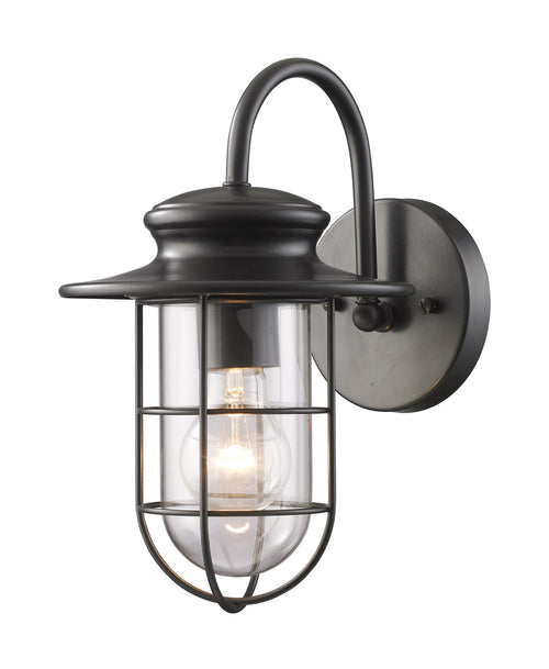 Decovio 14202-MB1 Colesville 1 Light 12 inch Matte Black Outdoor Sconce