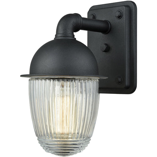 Decovio 14238-MBCR1 Colden 1 Light 9 inch Matte Black Outdoor Sconce