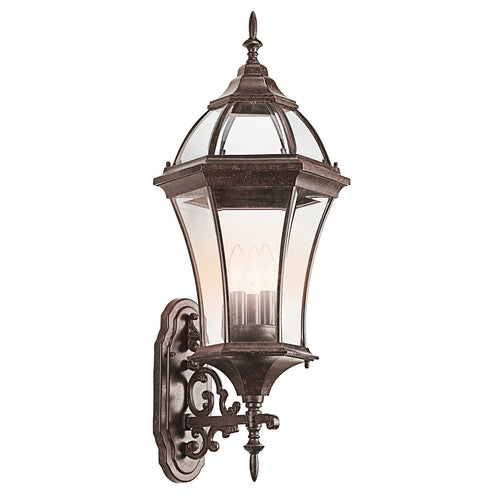 Kichler Lighting Townhouse 3 Light 32 inch Tannery Bronze Outdoor Wall Lantern