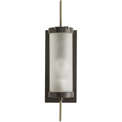 Arteriors Stefan 1 Light 20 inch Aged Iron and Nickel Outdoor Sconce