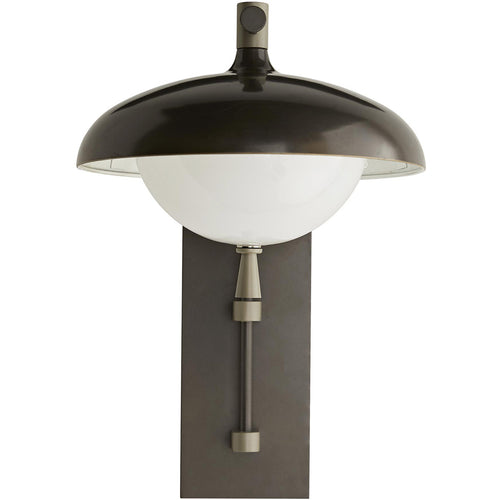 Arteriors Stanwick 1 Light 22 inch Aged Iron with Nickel Accents Outdoor Sconce