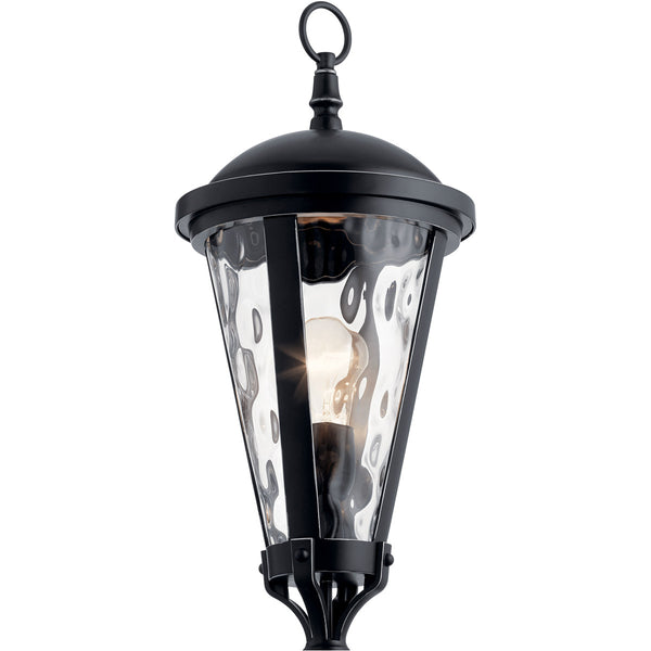 Kichler Lighting Cresleigh 1 Light 24 inch Black with Silver Highlights Outdoor Post Mount