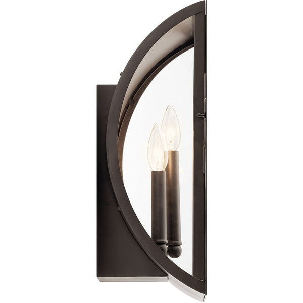 Kichler Lighting 49288OZ Narelle 3 Light 17 inch Olde Bronze Outdoor Wall Light
