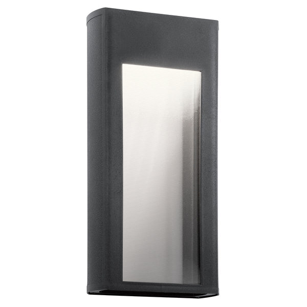 Kichler Lighting 49362BKTLED Ryo LED 16 inch Textured Black Outdoor Wall Light
