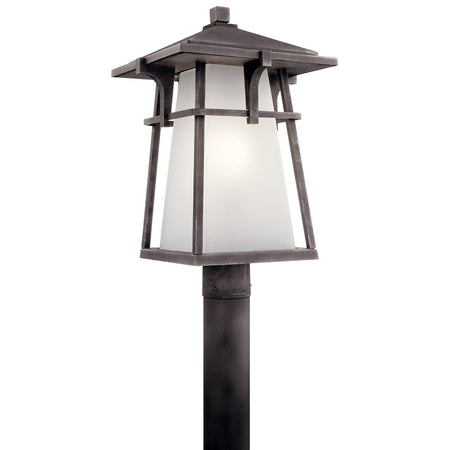 Livex Exeter 3 Light 30 inch Charcoal Outdoor Post Head