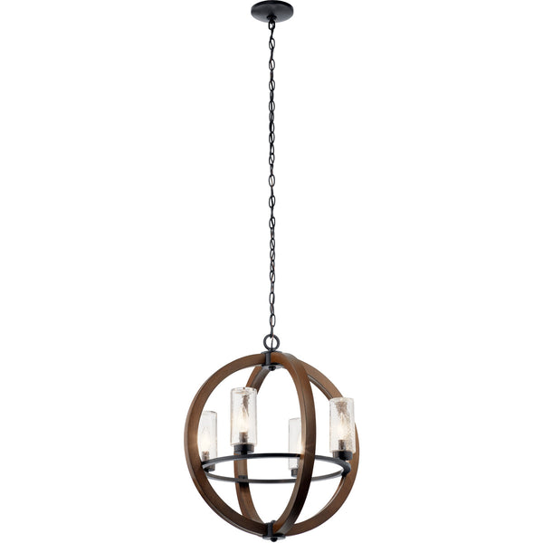Kichler Lighting 49791AUB Grand Bank 4 Light 20 inch Auburn Stained Outdoor Chandelier