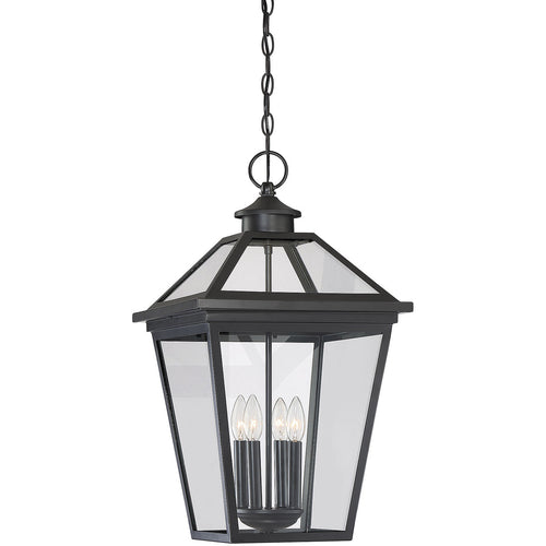 Savoy House Lighting Ellijay 4 Light 14 inch Black Outdoor Hanging Lantern