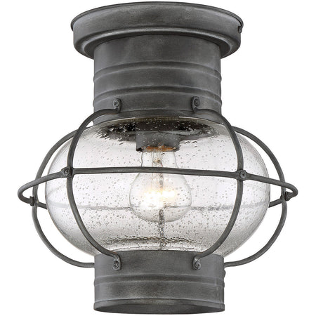 Savoy House Lighting Barrett 1 Light 10 inch English Bronze Outdoor Flush Mount