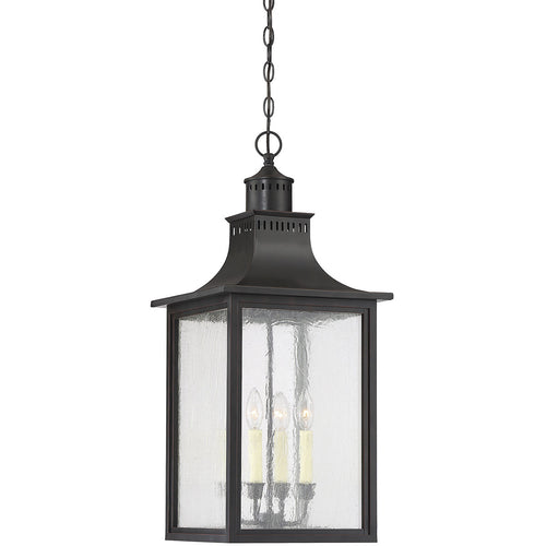 Savoy House Lighting Monte Grande 4 Light 13 inch Slate Outdoor Hanging Lantern