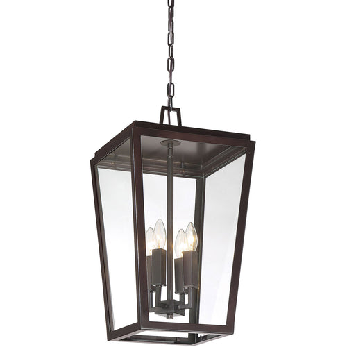 Savoy House Lighting Milton 4 Light 12 inch English Bronze Outdoor Hanging Lantern