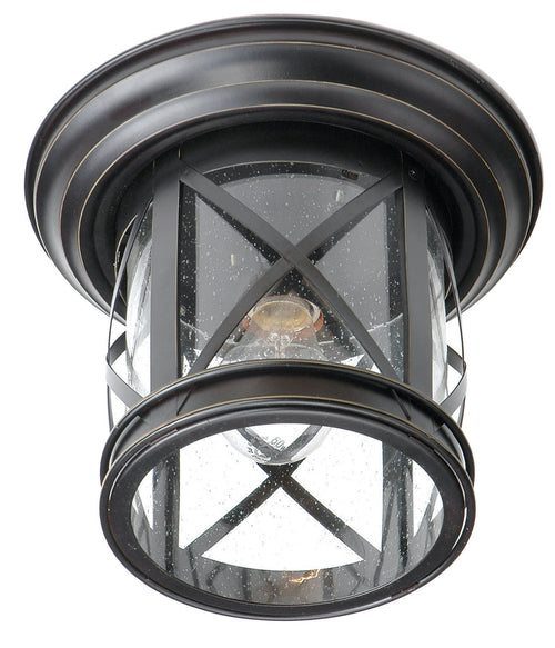 Trans Globe Lighting Chandler 1 Light 11 inch Rubbed Oil Bronze Outdoor Flushmount Lantern