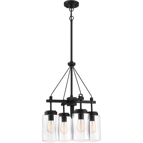 Craftmade 52124-ESP Crosspoint 4 Light 18 inch Espresso Outdoor Chandelier
