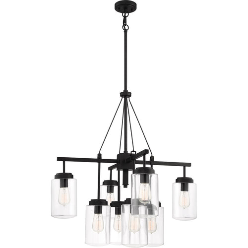 Craftmade 52128-ESP Crosspoint 8 Light 30 inch Espresso Outdoor Chandelier