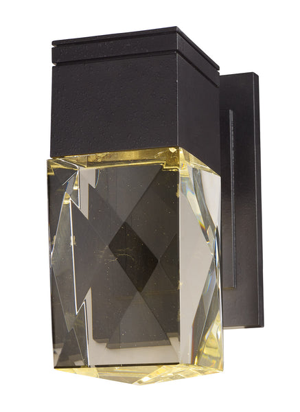 Maxim Lighting Holmby Hills LED 10 inch Texture Ebony Outdoor Wall Lantern