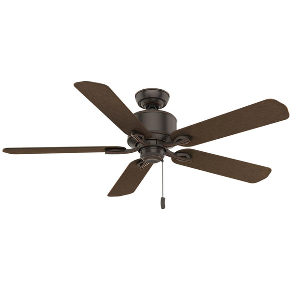 Casablanca Fans Compass Point 54 inch Onyx Bengal with Reversible P.A. Cocoa Plastic Blades Outdoor Ceiling Fan