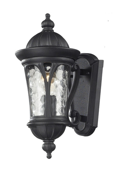 Z-Lite Doma 1 Light 14 inch Black Outdoor Wall Sconce