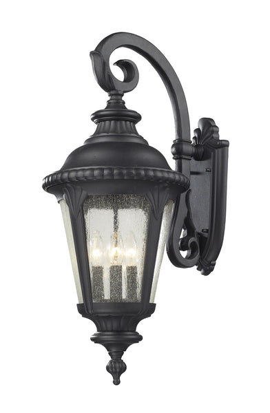 Z-Lite Medow 4 Light 29 inch Black Outdoor Wall Sconce