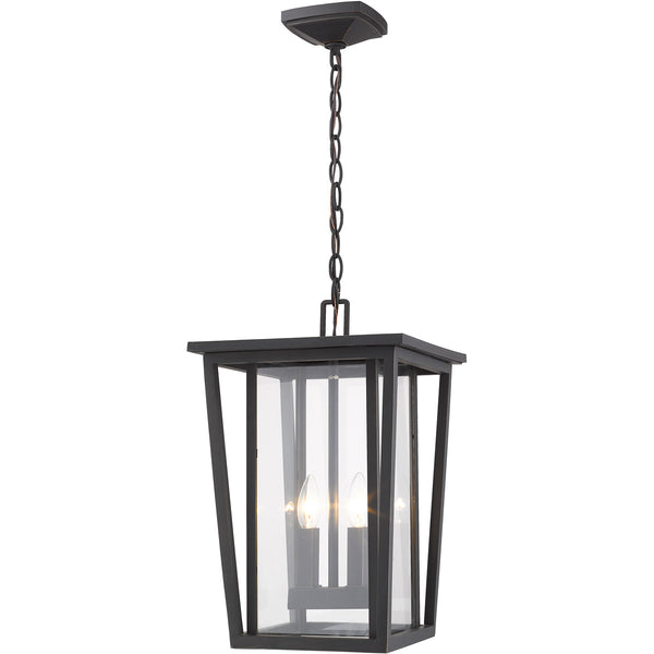 Z-Lite Seoul 2 Light 11 inch Oil Rubbed Bronze Outdoor Chain Mount Ceiling Fixture