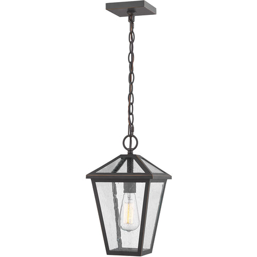 Z-Lite Talbot 1 Light 8 inch Rubbed Bronze Outdoor Chain Mount Ceiling Fixture