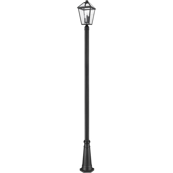 Z-Lite Talbot 3 Light 114 inch Black Outdoor Post Mounted Fixture