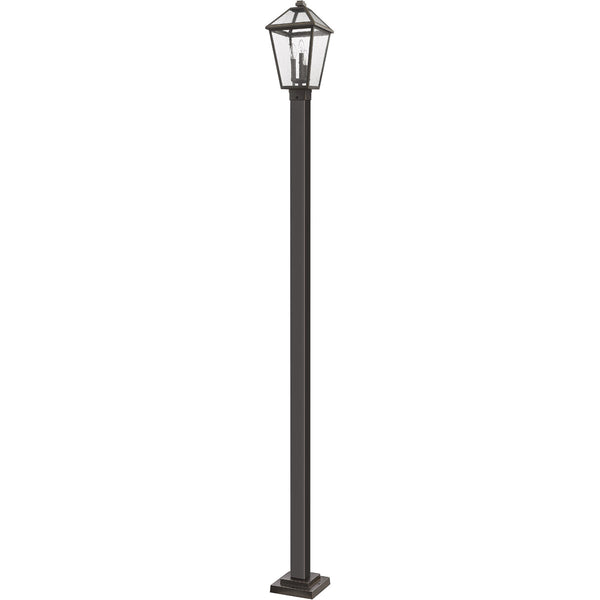 Z-Lite Talbot 3 Light 114 inch Rubbed Bronze Outdoor Post Mounted Fixture