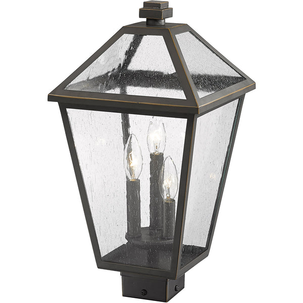 Z-Lite Talbot 3 Light 19 inch Rubbed Bronze Outdoor Post Mount Fixture