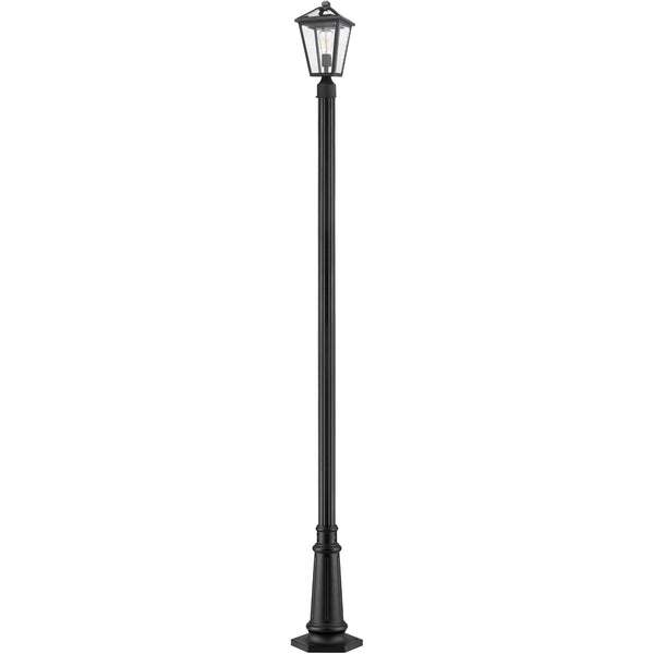 Z-Lite Talbot 1 Light 110 inch Black Outdoor Post Mounted Fixture