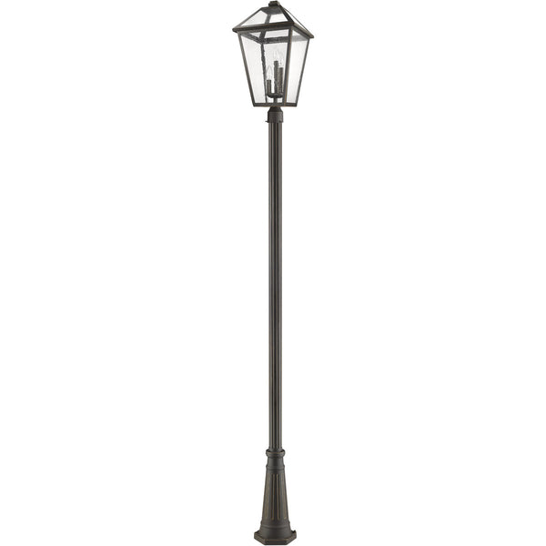 Z-Lite Talbot 3 Light 118 inch Rubbed Bronze Outdoor Post Mounted Fixture