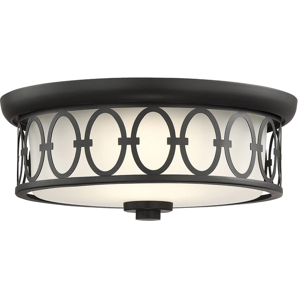 Savoy House Lighting 6-2390-14-89 Sherrill LED 14 inch Matte Black Outdoor Flush Mount