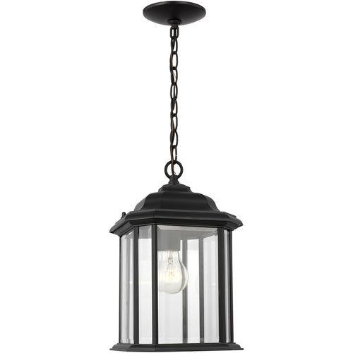 Sea Gull Lighting Kent 1 Light 8 inch Black Outdoor Pendant