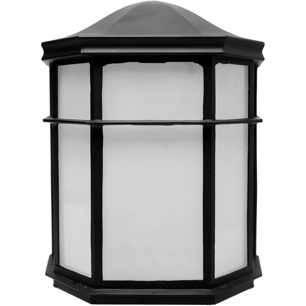 Nuvo Lighting Brentwood LED 8 inch Black Outdoor Caged Lantern